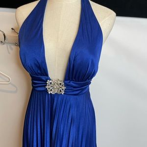Cache dress 4 royal blue occation bridesmaid knee